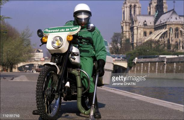 Cleaning services in Paris France in May 1992 Notre Dame de Paris