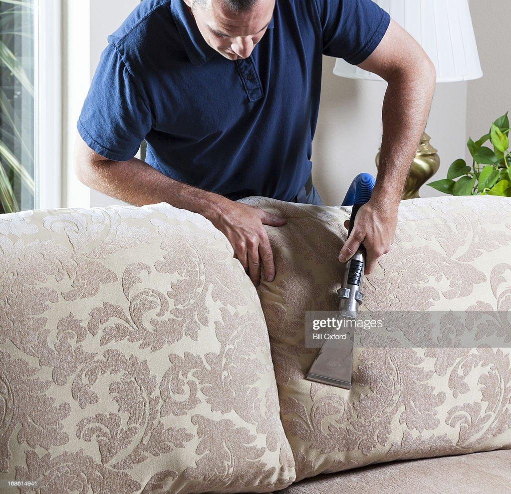 Sofá de limpeza : Foto de stock