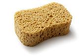 Cleaning: Sponge Isolated on White Background