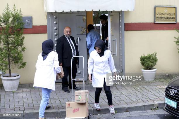 Cleaning supplies are being brought to the Saudi consulate as the waiting continues on the disappearance of Prominent Saudi journalist Jamal...