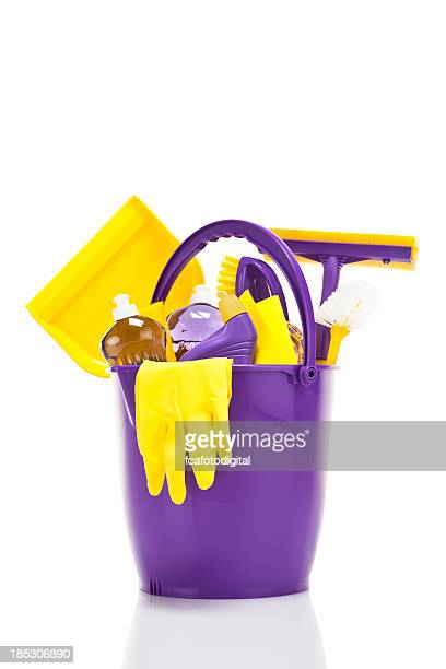 cleaning supplies - bucket stock pictures, royalty-free photos & images