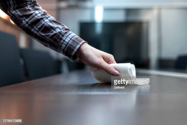 cleaning table surface - wet wipe stock pictures, royalty-free photos & images