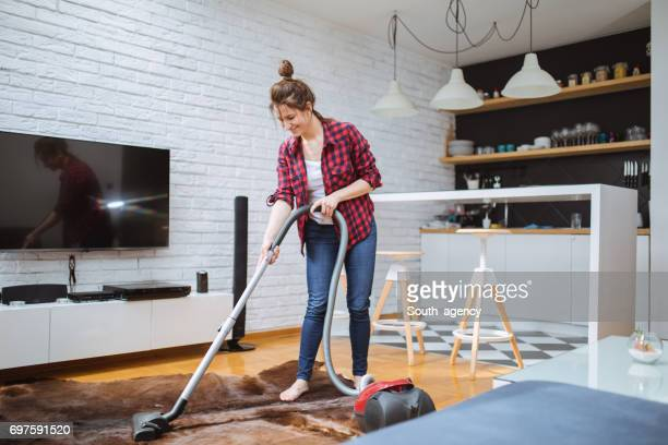 cleaning the apartment - tv housewife stock photos and pictures
