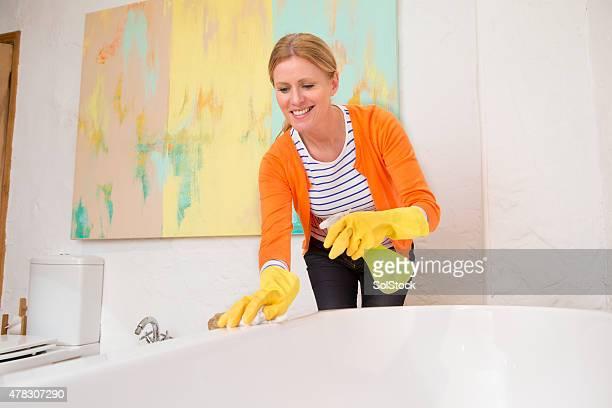 Reinigung der Bad