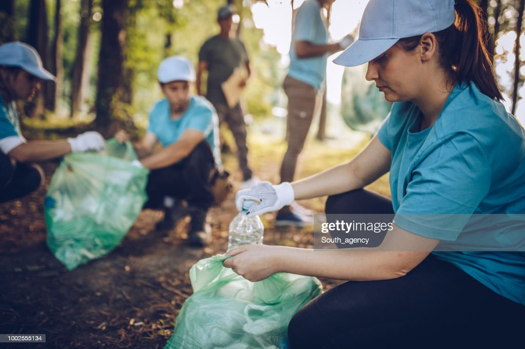Cleaning the environment together : Stock Photo