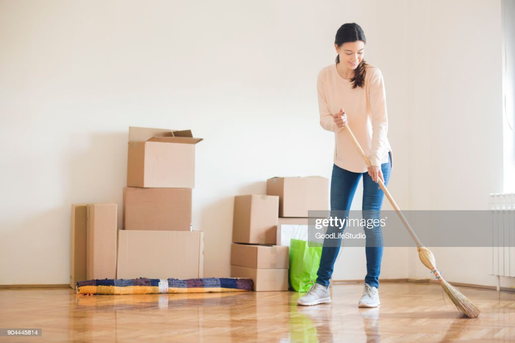 Cleaning the new home : Stock Photo