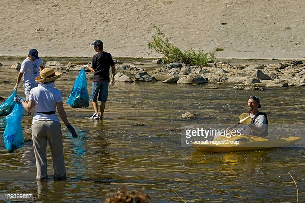Cleaning the LA River. Ocean Kayak at FoLAR's annual 'La Gran Limpieza' clean up of the Los Angeles River. Bette Davis Picnic Area. Glendale Narrows....