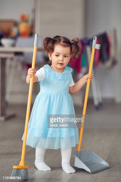 cleaning time - dustpan and brush stock pictures, royalty-free photos & images