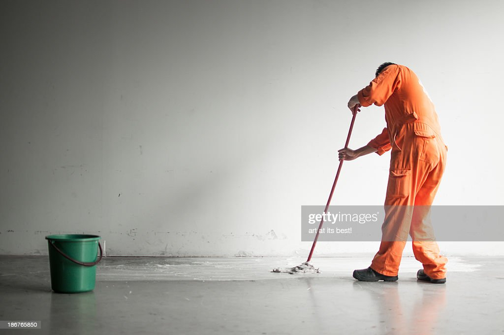 Cleaning time : Stock Photo