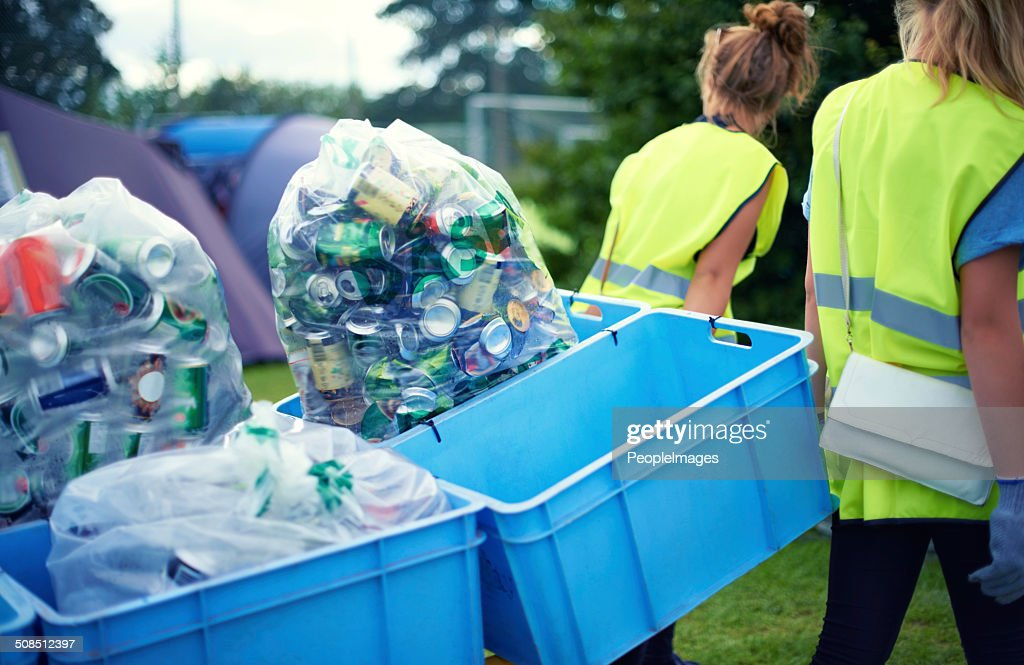 Cleaning up after the festivities : Stock Photo