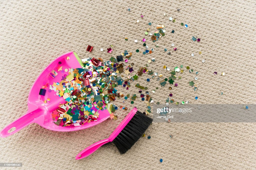 Cleaning up after the party : Stock Photo