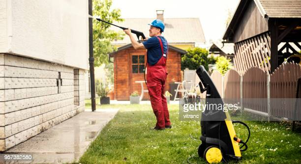 cleaning with high pressure - terraced field stock pictures, royalty-free photos & images