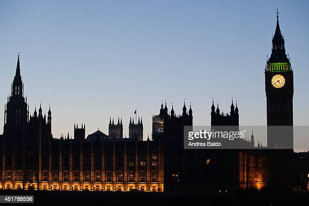 A clear autumn evening in Westminster London United Kingdom