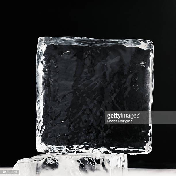 Clear Block of Ice in melting bath