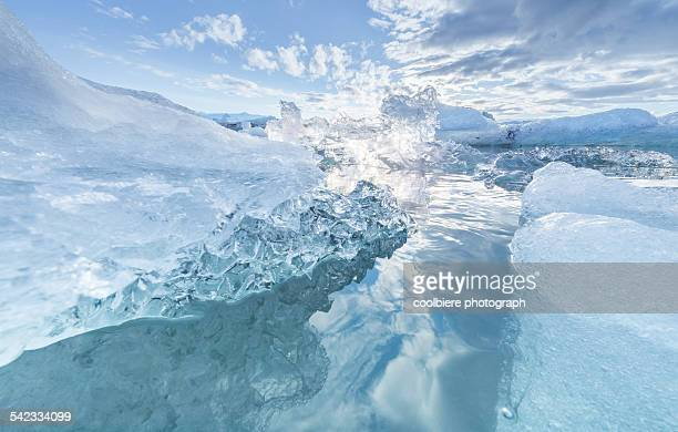 Clear blue Iceberg lagoon