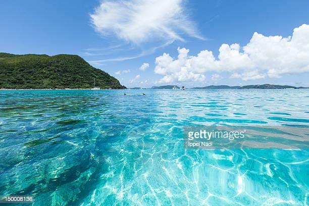 Clear blue lagoon water