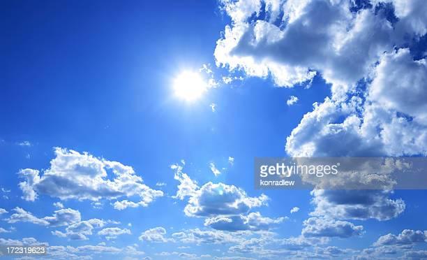 xxxl klaren blauen himmel panorama - wolkenloser himmel stock-fotos und bilder
