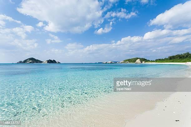 Clear blue water beach