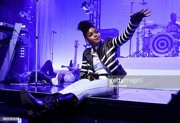 Clear Channel presents an exclusive performance with Janelle Monae as part of the iHeartRadio Live series at the iHeartRadio Theater on March 25 2014...
