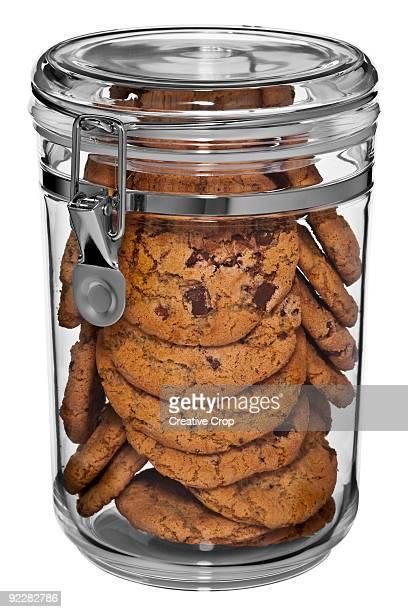 Clear cookie jar full of cookies