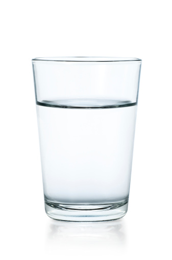 Clear glass of water on a white background 185056395