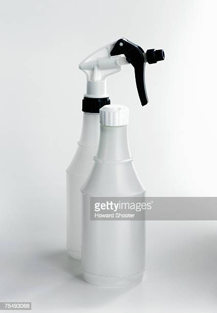 Clear plastic screw-top bottle, and spray-top bottle