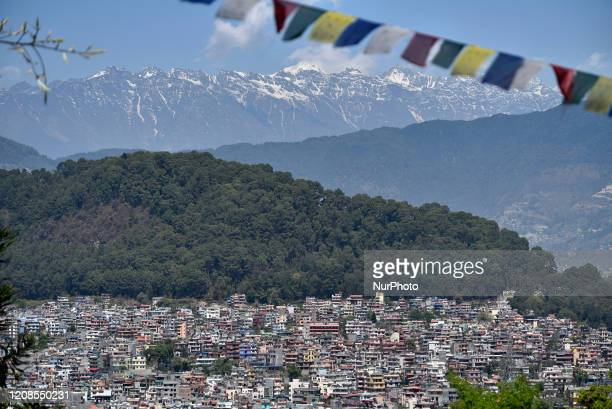 Clear skies along with the cityscapes seen from Kathmandu during the sixth day nationwide lockdown as concerns about the spread of Corona Virus in...