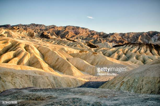 clear sky over hills, death valley, california, usa - gourley stock pictures, royalty-free photos & images