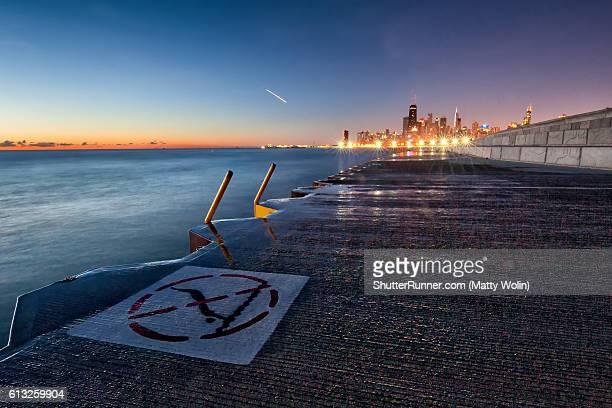 Clear Sunrise on Lake Michigan