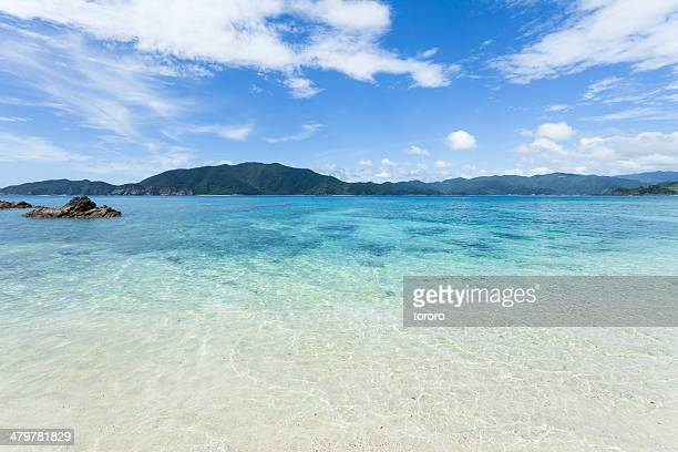 Clear tropical water beach, southern Japan