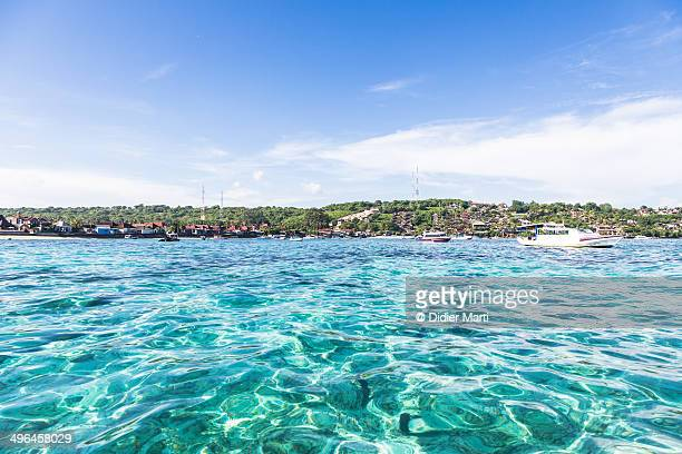 clear water in lembongan island, bali, indonesia. - didier marti stock photos and pictures