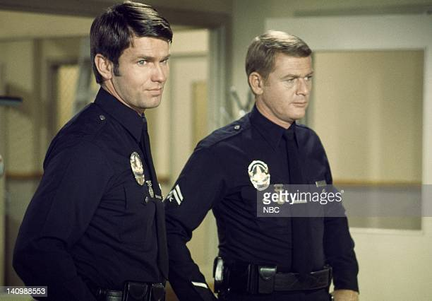 ADAM12 Clear with a Civilian Episode 14 Aired Pictured Kent McCord as Officer Peter J Malloy Martin Milner as Officer Peter J Malloy Photo by Bob...