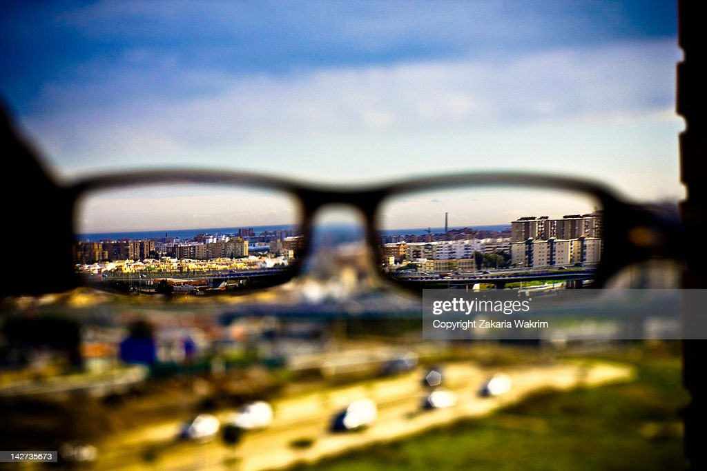 Clear with spectacles : Stock Photo