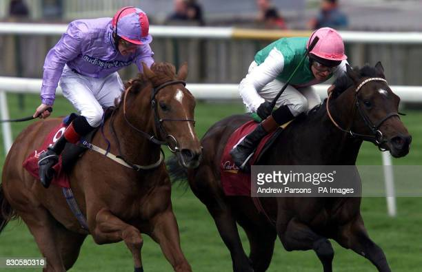 Clearing ridden by jockey Richard Hughes wins the Victor Chandler European Free Handicap from second placed Palace Affair ridden by jockey Stephen...