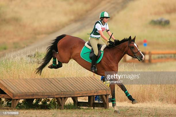 clearing the jump - equestrian show jumping stock pictures, royalty-free photos & images