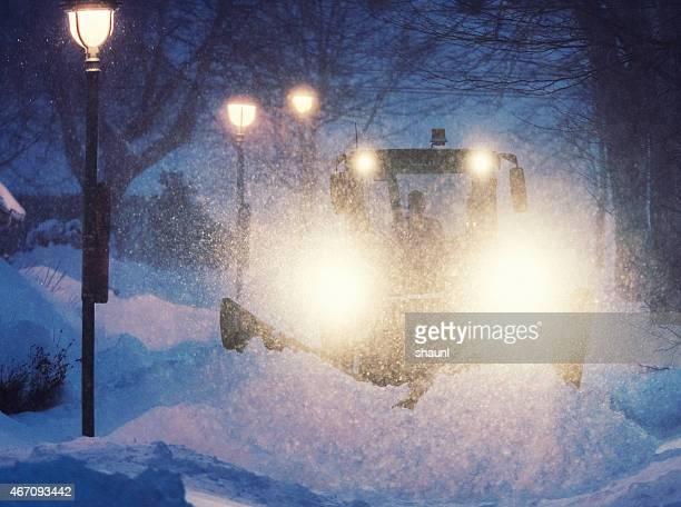 Rechteklärung die Straßen von Schnee