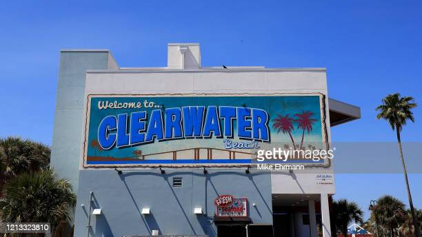 Clearwater Beach is shown during spring break on March 18 2020 in Clearwater Florida The World Health Organization declared COVID19 a global pandemic...