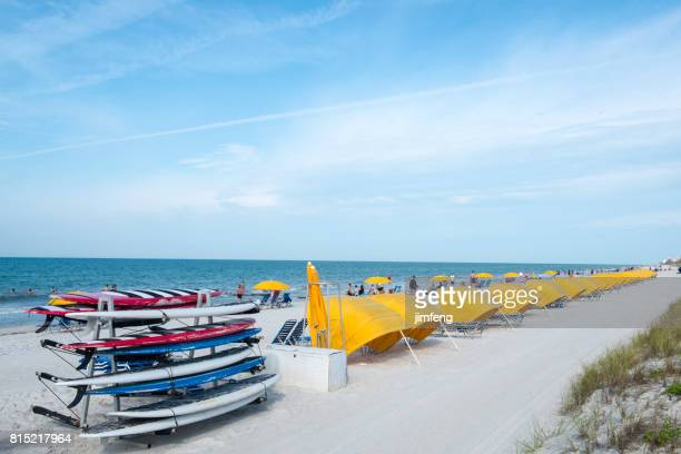 clearwater beach - fort myers beach stock photos and pictures