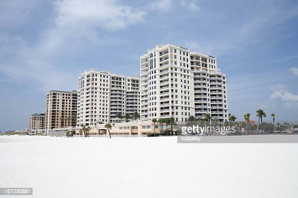 clearwater beach skyline - clearwater florida stock pictures, royalty-free photos & images