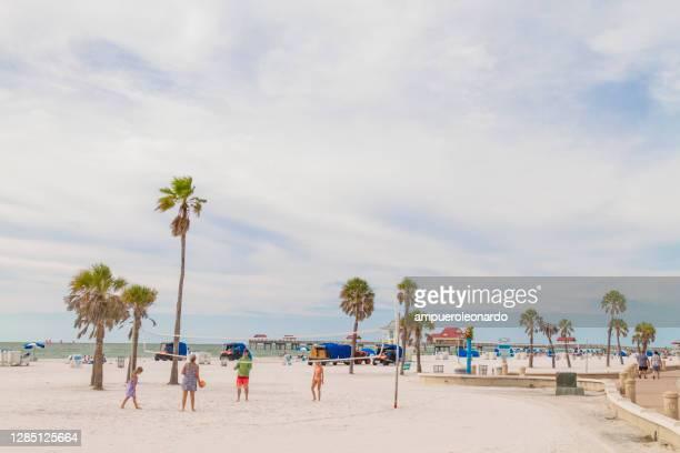 clearwater beach, san pietroburgo, florida, stati uniti d'america - siesta key foto e immagini stock