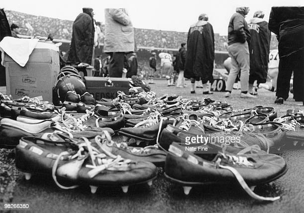 Cleats for the Washington Redskins for a game with the Philadelphia Eagles a 3429 Redskins victory on December 7 at Franklin Field in Philadelphia...