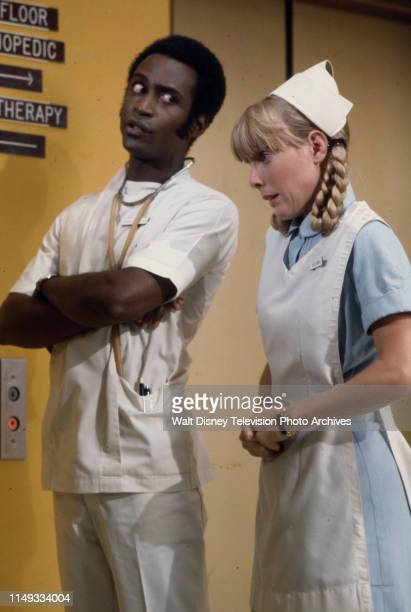 Cleavon Little Nancy Fox appearing on the ABC tv series 'The New Temperatures Rising Show' episode 'The Accident Con'