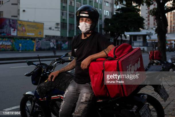 Cleber da Silva 26 years old resident of the Bonsucesso neighborhood poses for a portrait on March 24 2020 in Rio de Janeiro Brazil He has been...