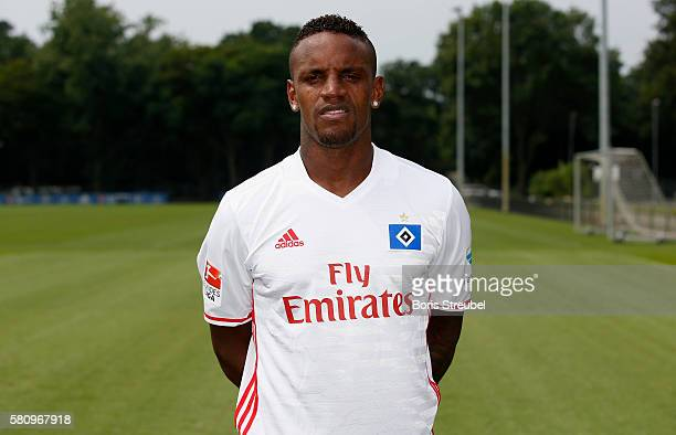 Cleber Reis of Hamburger SV poses during the Hamburger SV Team Presentation at Volksparkstadion on July 25 2016 in Hamburg Germany