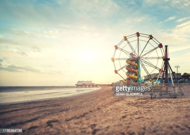 cleethorpes beach - north lincolnshire stock pictures, royalty-free photos & images