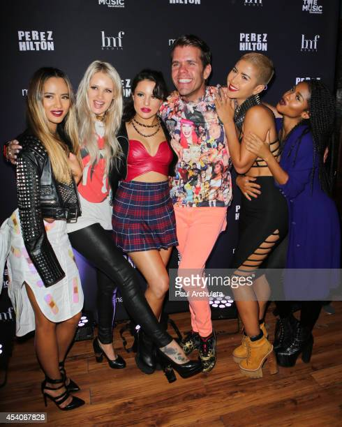 """Clelebrity Blogger Perez Hilton and Girl Group G.R.L. Attend """"One Night In Los Angeles"""" a concert benefit for """"VH1's Save The Music"""" at The..."""