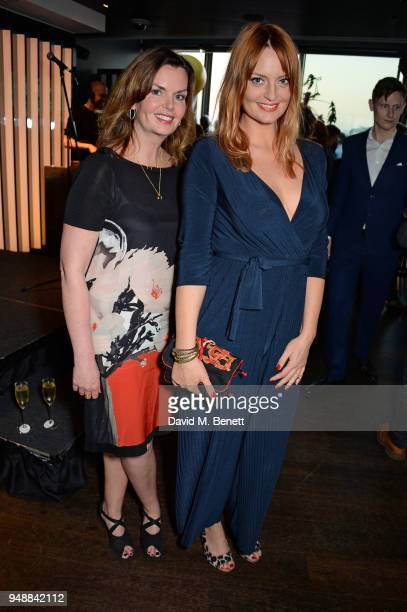 Clelia Mountford and Morgana Robinson attend the BAFTA TV Awards Nominees' Party at Mondrian London on April 19 2018 in London England