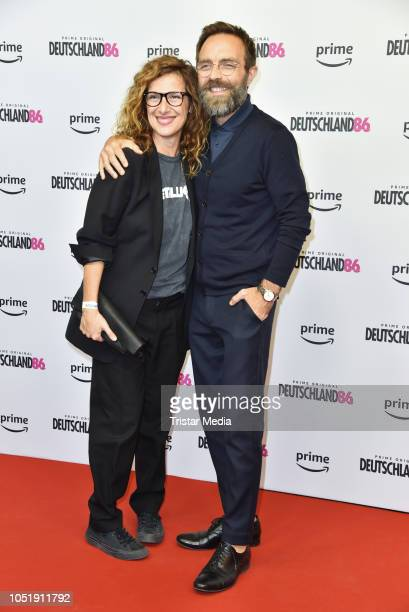 Clelia Sarto and Aleksandar Jovanovic attend the premiere for the film 'Deutschland86' at Kino International on October 11 2018 in Berlin Germany