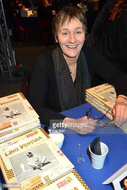 Clelia Ventura daughter of actor Lino Ventura attends the 'Journees Nationales du Livre et du Vin 2013' At Bouvet Ladurey Cellars on April 14 2013 in...