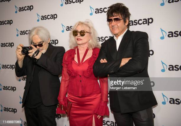 Clem Burke Debbie Harry and Chris Stein arrive at the 36th Annual ASCAP Pop Music Awards at The Beverly Hilton Hotel on May 16 2019 in Beverly Hills...